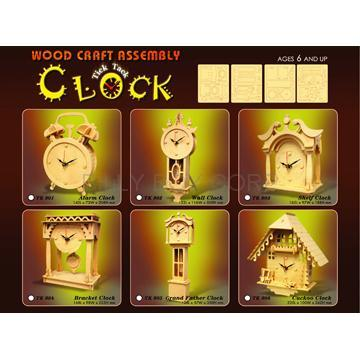 Wood Craft Tick Tock Clock