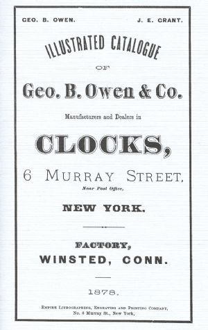 George B. Owen Clocks, Illustrated Catalog